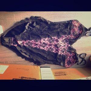 Large black/ pink lingerie